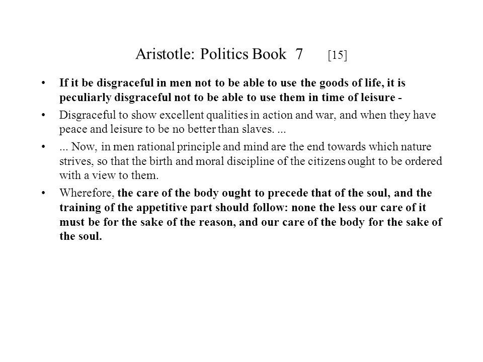 Aristotle: Politics Book 7 [15]